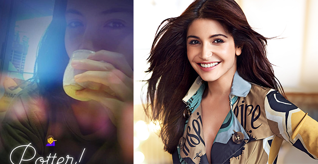 Anushka Sharma Enjoys Sipping Coffee in Her Self-made Cup, Flaunts Pottery Skills