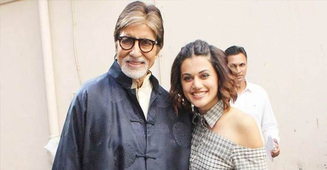 Big B Shares Taapsee Pannu's Excited SMS on Twitter, Watch Video