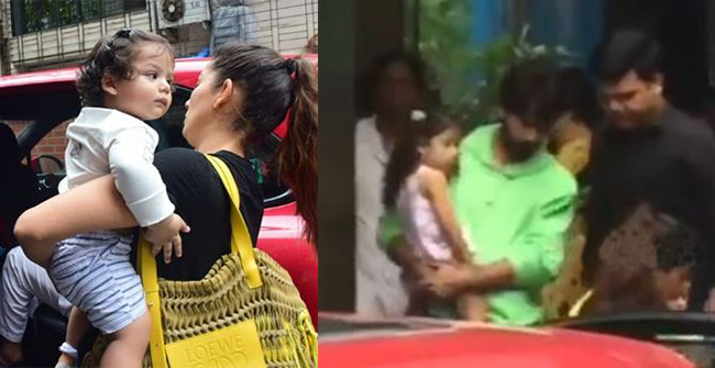 Shahid Kapoor and Mira Rajput snapped with their kids Zain and Misha in latest outing, see pics