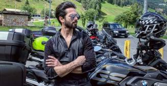 Shahid Kapoor poses with his mean bike in Switzerland, wife Mira Rajput posts a quirky comment