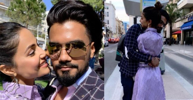 Hina Khan posts an adorable picture with her BF Rocky Jaiswal as they give couple goals, see pics