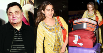 Rishi Kapoor lavishes praise on Sara Ali Khan after she carries her own luggage