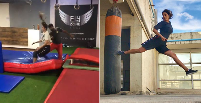 Watch: Disha Patani Succesfully 'Overcomes Her Fear' in Latest Video and Gives Major Fitness Goals