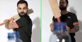 Virat Kohli Bosses the Bottle Cap Challenge with Ravi Shastri's voice in behind, watch video