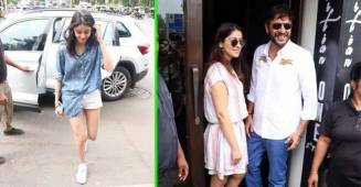 Ananya Panday and Chunky Panday all smiles as they get papped during latest outing
