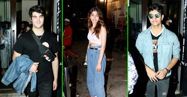In Pictures: Akshay Kumar's son Aarav, Ibrahim Ali Khan and Alaia F spend a dinner night together