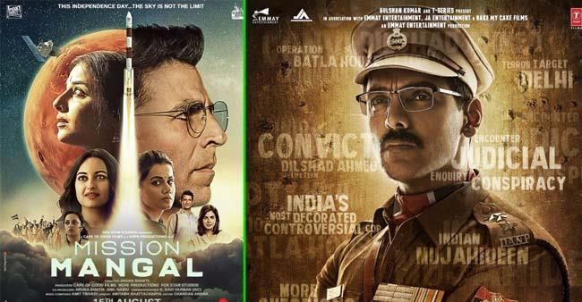 Box Office Collections: Mission Mangal to enter into 100 cr club soon; Batla House nears 50 cr mark