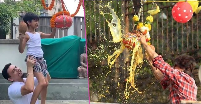 Bollywood Celebs celebrate Janmashtami feat. Shah Rukh Khan and Viaan Raj Kundra