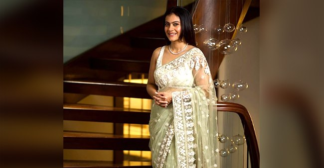 In Pictures: Kajol looks like a stuff of dreams in a white saree in her latest Instagram pic