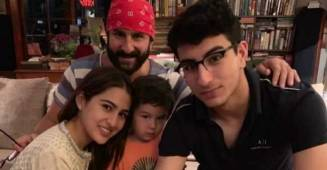 Sara Ali Khan posts a family photo to wish her 'abba' Saif on his birthday