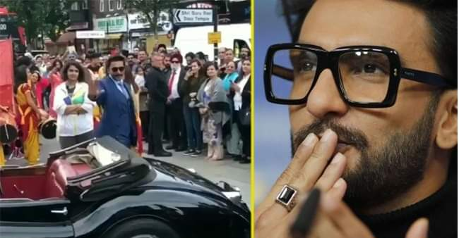 Ranveer Singh proves he's a global superstar after fans flock to London streets to catch his glimpse