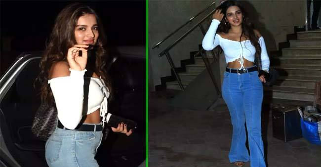 Niddhi Agerwal stuns in her latest outing; shows how to rock white crop top like a boss