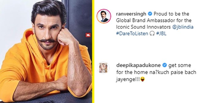 Deepika Padukone's hilarious comment on Ranveer Singh's latest IG post will leave you in splits