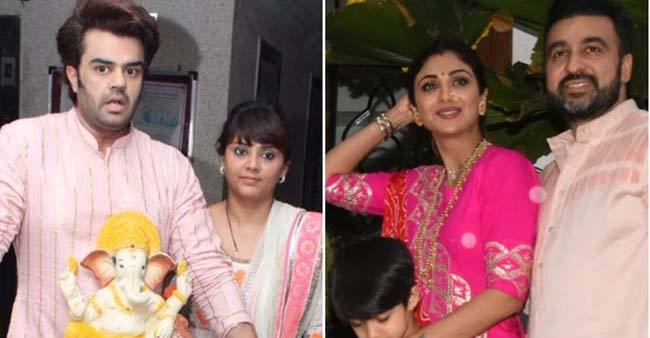 Shilpa Shetty and family celebrate Ganpati Visarjan with zeal; Manish Paul bid adieu as well