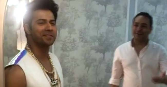 This video of Varun Dhawan introducing his 'gareeb' designer from sets of Coolie no. 1 is hilarious AF