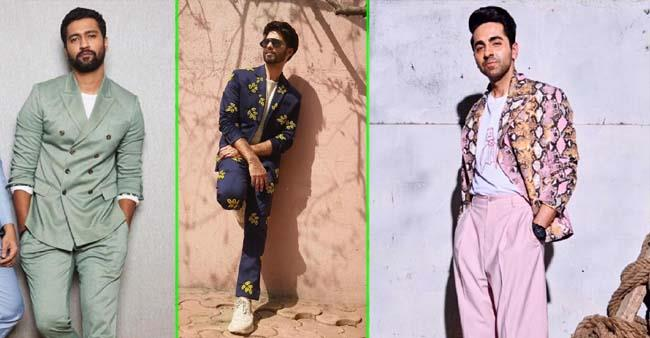 Vicky Kaushal to Shahid Kapoor: Celebs are ditching the colour black in suits for more funky approach
