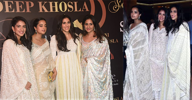 Shloka Mehta, Radhika Merchant and friends dress in all white as they attended Abu-Sandeep's show