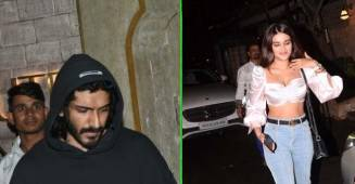Harshavardhan Kapoor and Niddhi Agerwal Spotted at a Dinner Date