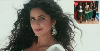 In a BTS video shared Katrina Kaif pairs lehenga with sports shoes
