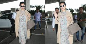 Kangana Ranaut aces the fashion game in her latest outing to the airport, see pics