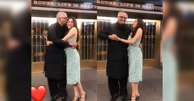 Janhvi Kapoor shares loved up picture with her dad Boney Kapoor from USA, see pics