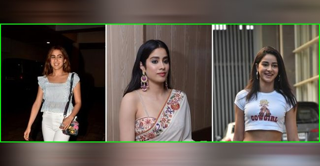 Newcomers Sara Ali Khan, Ananya Panday and Janhvi Kapoor have one thing in common