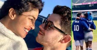 Priyanka Chopra shares her favorite memory with Nick Jonas as they pose in a Stadium