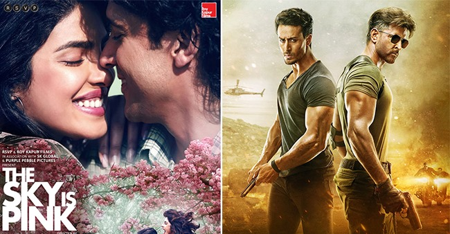 Box Office Collections of The Sky Is Pink and Hrithik Roshan, Tiger Shroff's film