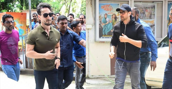 PHOTOS: Hritik Roshan and Tiger Shroff visit theatres to see audiences' reaction themselves