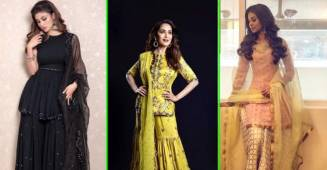 The ultimate guide to wear Ghararas in this festive season, feat. Mouni Roy, Madhuri Dixit and others