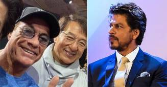 Netizens slam French Actor Jhon Rechid for cropping SRK in his picture with Jackie Chan