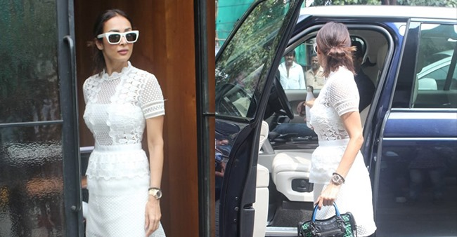 Malaika Arora gets papped in a chic avatar during her latest outing in the city, see pics