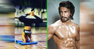 Malaika Arora gets praised by Ranveer Singh after performing a headstand, see pics
