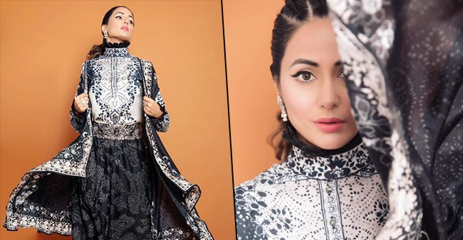 Hina Khan looks like the stuff of dreams in her latest Monochrome outfit, see pics