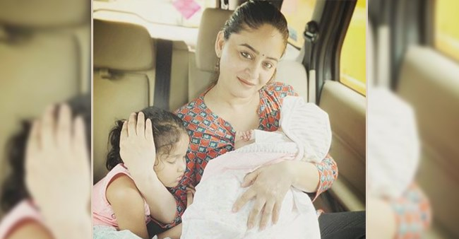 Awwdorable: New Mom Mahhi Vij shares picture with her daughters that is just too cute