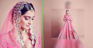 Sonam Kapoor looks like a princess incarnate in pink bridal Lehenga, see pics