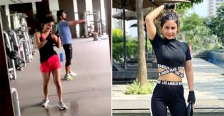 Hina Khan and Sunil Grover's funny banter at their gym is the funniest thing on internet today