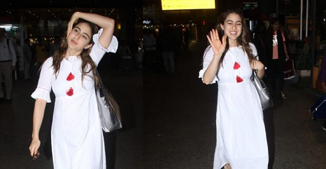 Sara Ali Khan looks dope happy as she gets papped at the airport after her Sri Lanka vacation