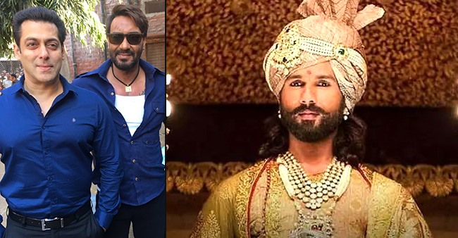 Shahid Kapoor bills Salman Khan, Ajay Devgn & Aishwarya Rai as perfect trio for Padmaavat cast