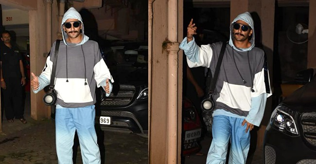 Ranveer Singh shows off another dope avatar outside Sanjay Leela Bhansali's office, see pics