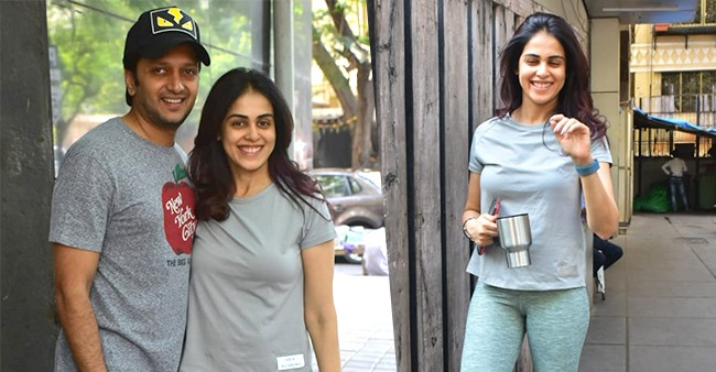Riteish Deshmukh and Genelia D'Souza get papped as they head out for a coffee date together