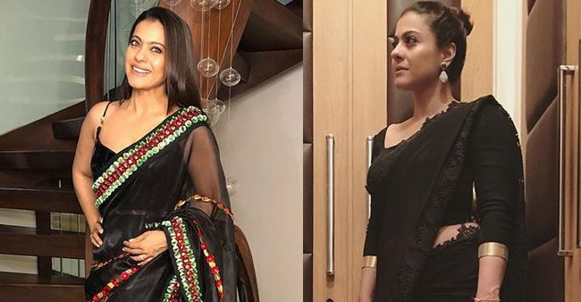 In Pictures: Five times Kajol rocked the black saris and looked drop dead gorgeous