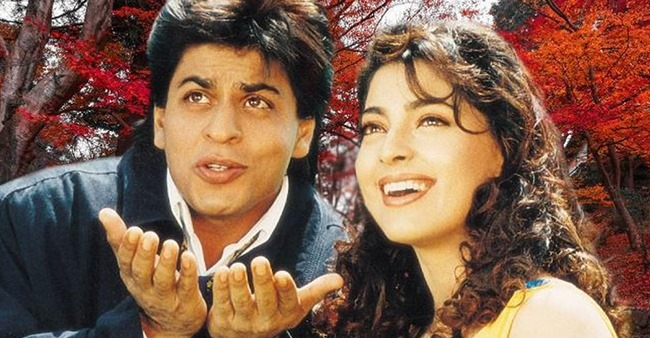 Three most popular and iconic movies of Shah Rukh Khan and Juhi Chawla together