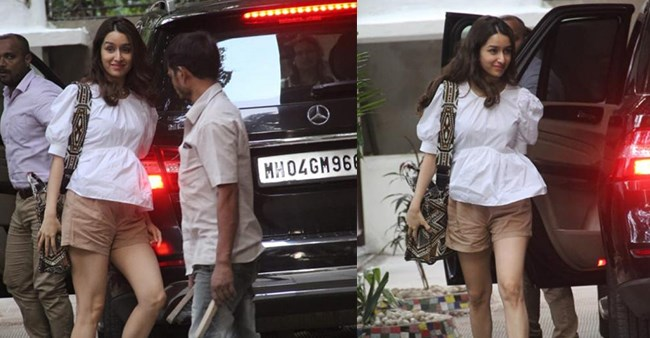 Saaho Actress Shraddha Kapoor Spotted Outside Smiling Back at the Paparazzi