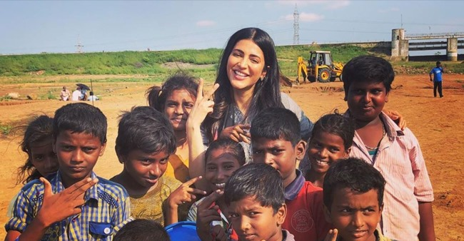 Shruti Haasan Shares Her Picture Happily Posing With Group of Kids