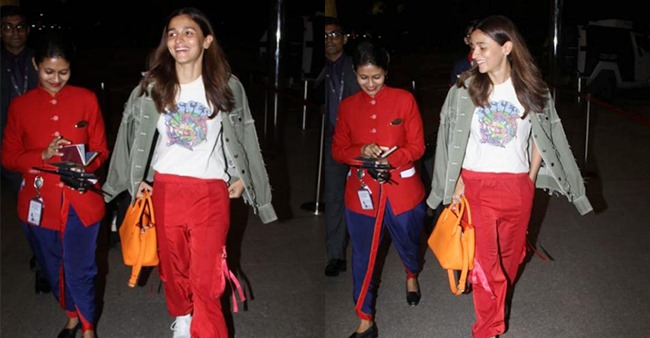 Alia Bhatt Snapped at the airport in simple casuals