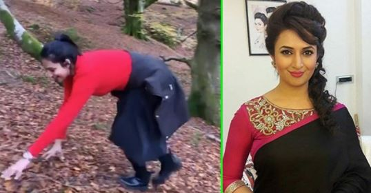 Divyanka Tripathi's video of 'monkey climb' while trekking will make you go 'Aww'; Watch