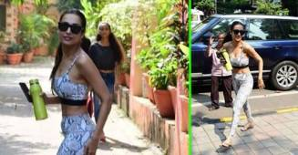 Malaika Arora gives major fitness goal as flaunts her toned body in a stylish printed gym wear