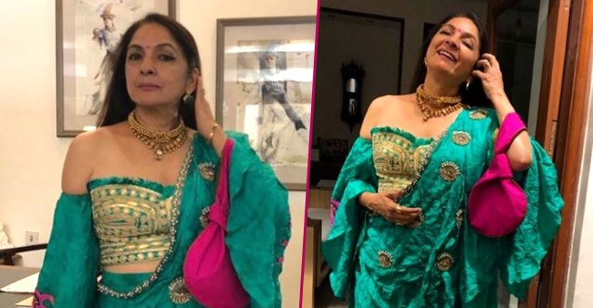 Neena Gupta looks beautiful as ever in a custom saree by the House of Masaba, take a look