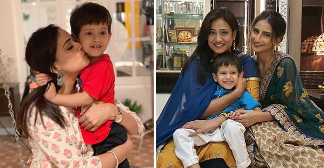 Shweta Tiwari celebrates the third birthday of her son Reyansh on sets of show Mere Dad Ki Dulhan